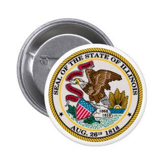 Illinois State Seal Pinback Button