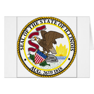 Illinois State Seal Greeting Card