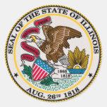 Illinois State Seal Classic Round Sticker