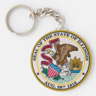 Illinois State Seal Keychain
