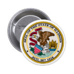 Illinois State Seal Pinback Button