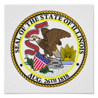 Illinois State Seal Poster