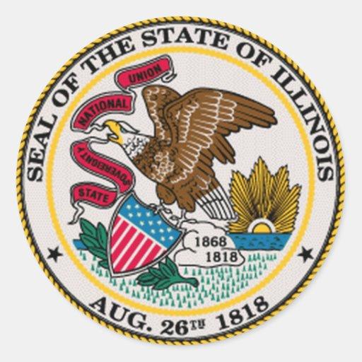 Illinois State Seal Sticker