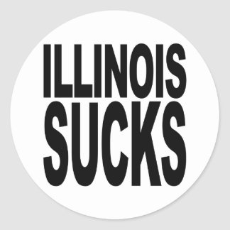 Illinois Sucks Classic Round Sticker