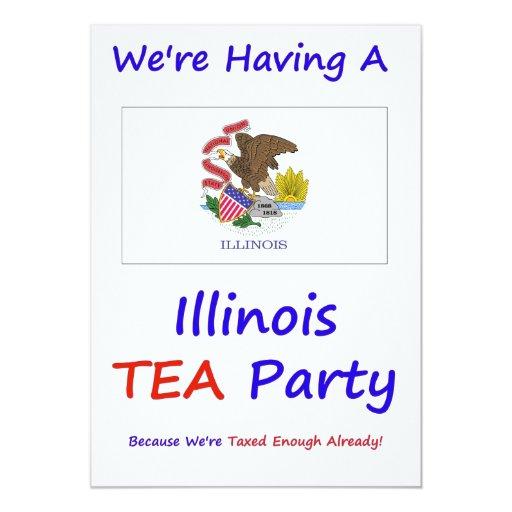 ILLINOIS T.E.A. PARTY INVITATIONS