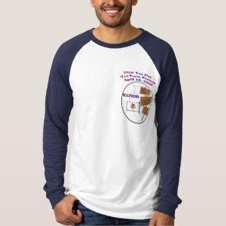 Illinois Tax Day Tea Party Long Sleeve Raglan T-Shirt
