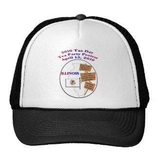 Illinois Tax Day Tea Party Protest Baseball Cap Trucker Hat