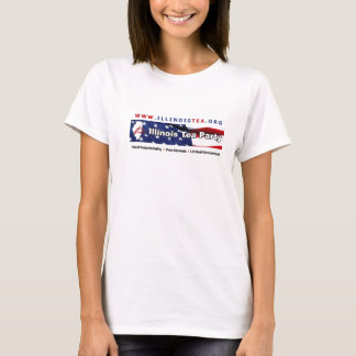 Illinois Tea Party Ladies Baby Doll T-Shirt