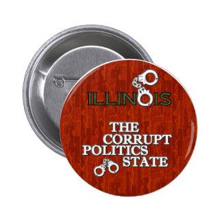 ILLINOIS: The Corrupt Politics State 2 Inch Round Button