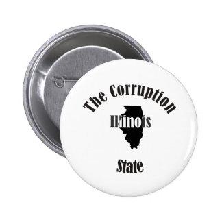illinois the corruption state pinback button