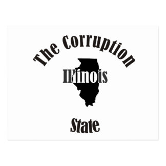 illinois the corruption state postcard