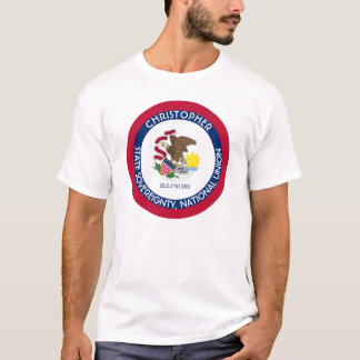 Illinois The Prairie State Personalized Flag T-Shirt