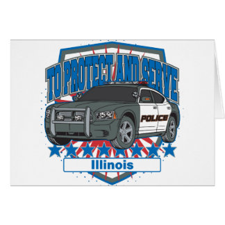 Illinois To Protect and Serve Police Squad Car Card