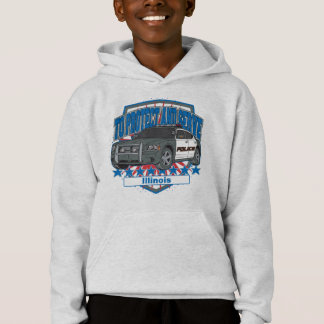 Illinois To Protect and Serve Police Squad Car Hoodie