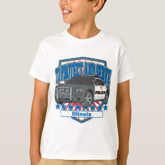 Illinois To Protect and Serve Police Squad Car T-Shirt