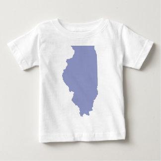 ILLINOIS un estado AZUL Tee Shirts