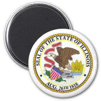 Illinois, USA 2 Inch Round Magnet