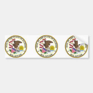 Illinois, USA Car Bumper Sticker