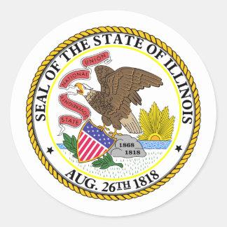 Illinois, USA Classic Round Sticker