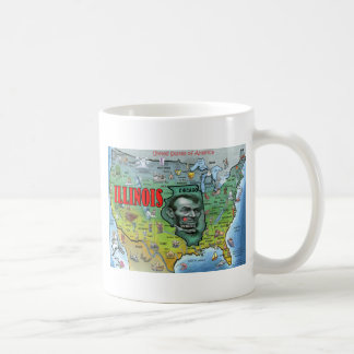 Illinois USA Map Coffee Mug