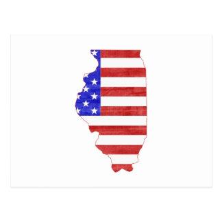 Illinois USA silhouette state map Postcard