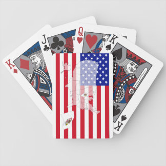 Illinois-USA State flag map playing cards Bicycle Playing Cards