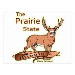 Illinois White Tailed Deer Fade Postcard
