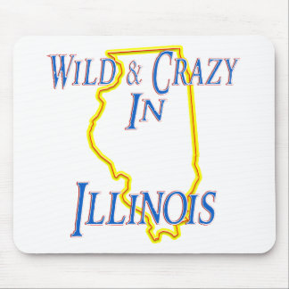 Illinois - Wild and Crazy Mouse Pad