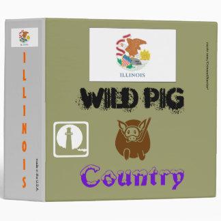 ILLINOIS: Wild Pig Country/Bull Shark Territory 3 Ring Binder