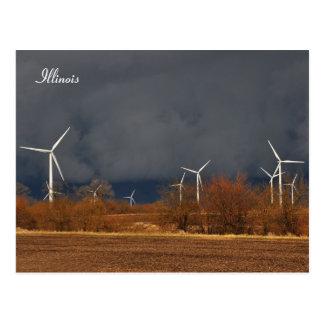 Illinois Windmills Postcard