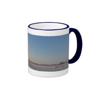 Illinois Winter Landscape Ringer Mug