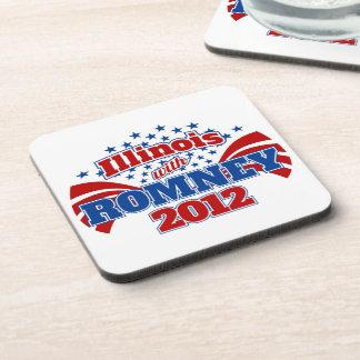 Illinois with Romney 2012 Drink Coaster