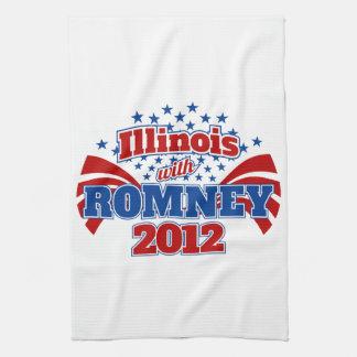 Illinois with Romney 2012 Hand Towel