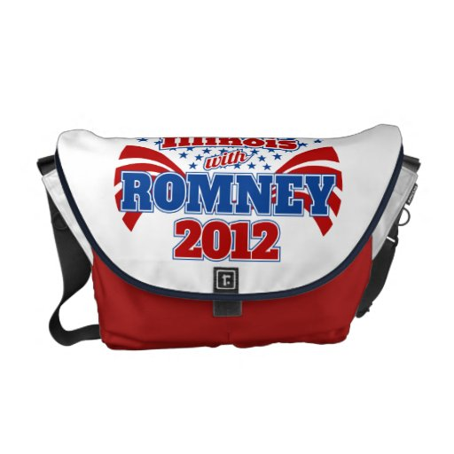 Illinois with Romney 2012 Messenger Bag