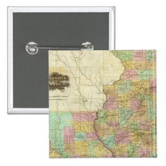 Illinois y Missouri Pin Cuadrado