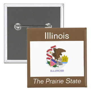 Illinoisan Flag Button