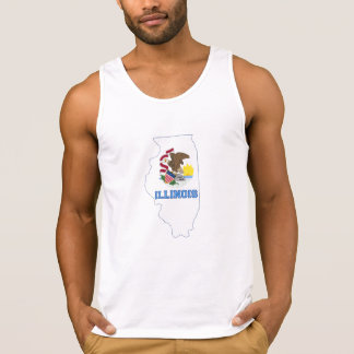 Illinoise State Flag and Map Tank Top