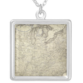 Illiteracy 1870 silver plated necklace