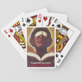 Illiteracy blinds your spirit_Propaganda Poster Playing Cards