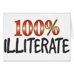 Illiterate el 100 por ciento felicitacion