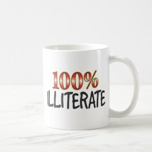 Illiterate el 100 por ciento tazas de café