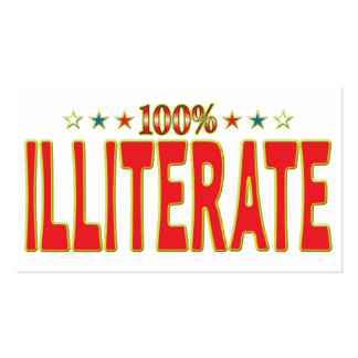 Illiterate Star Tag Business Card
