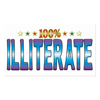 Illiterate Star Tag v2 Business Card Template