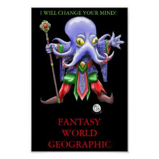ILLITHIDMON CHIBI MIND FLAYER FANTASY WORLD GEO POSTER
