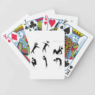 Illness Stick Figures Set Bicycle Playing Cards