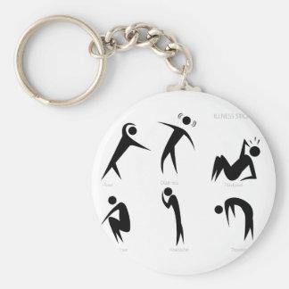 Illness Stick Figures Set Keychain