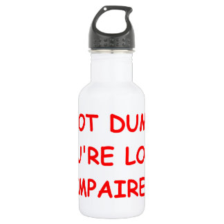 illogical stainless steel water bottle