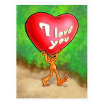 Illow Orange - I love you - Postcard