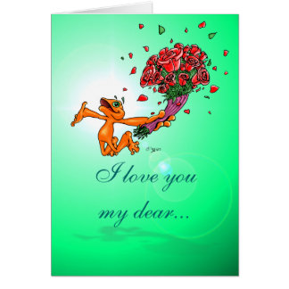 Illow Orange with Flowers - customizable Card