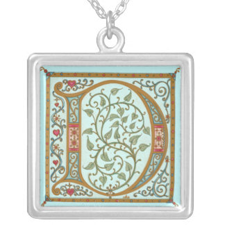 Illuminata *D* Monogrammed Silver-Plated Necklace